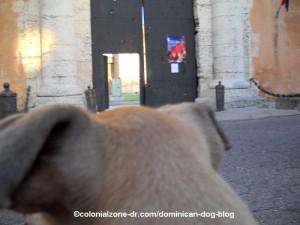 door of fortelaza ozama in colonial zone