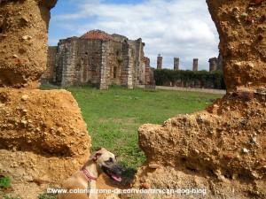 ruinas de san francisco the chapels in distance