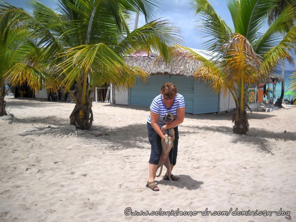 Teli and mom at Playa Dominicus