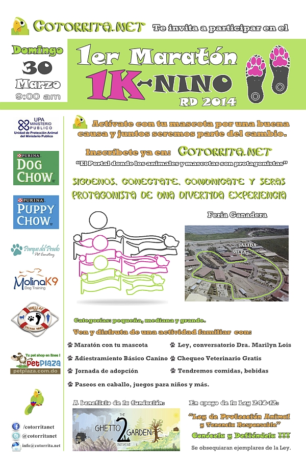 1er Maratón 1K Niño Canino RD 3-30-2014