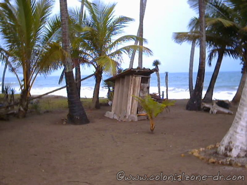An outhouse on the beach in Nagua, Dominican Republic.