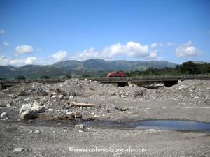 san jose de ocoa river bed and bridge
