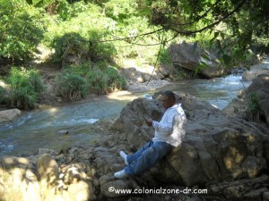 river near taino cave Luis