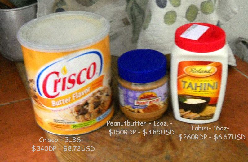 Food price comparison Dominican Pesos to US Dollars