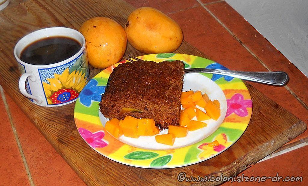 Dominican Gringas Mango Coffee Cake