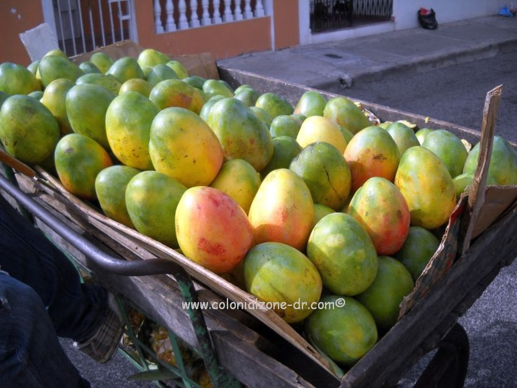 A cart full of tasty sweet mangos