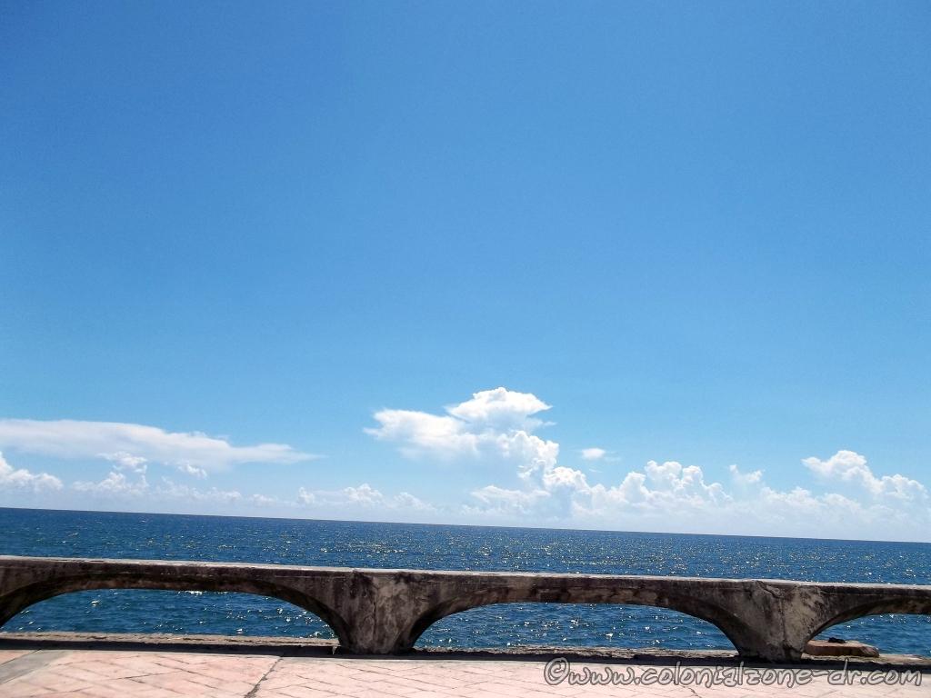 The Caribbean Sea view from the Malecon in Santo Domingo.