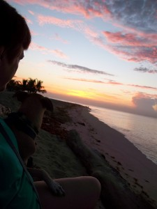 Teli and I enjoying the spectacular sunrise.