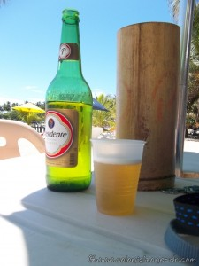 Ahhh. A nice cold Presidente beer