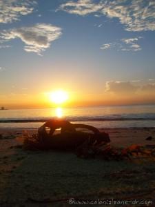 The sun rising over Juan Dolio Beach