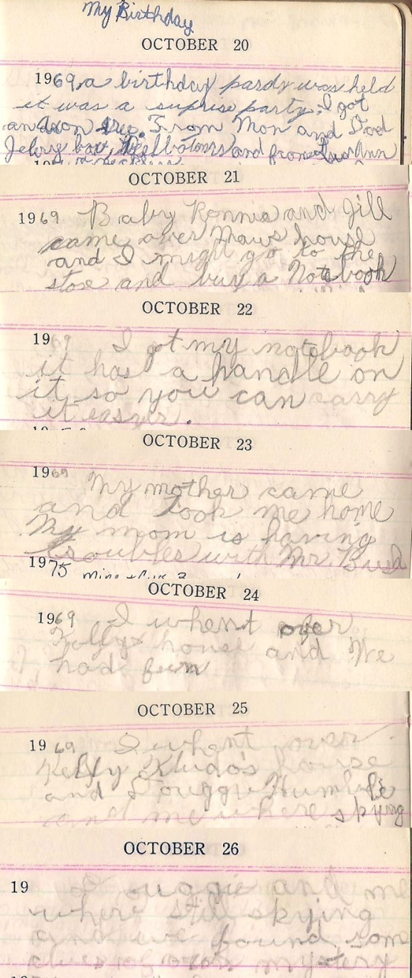Janette's Diary October 20 - 26, 1969