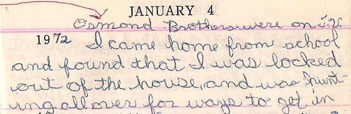 Janette Keys diary 1-4-1972