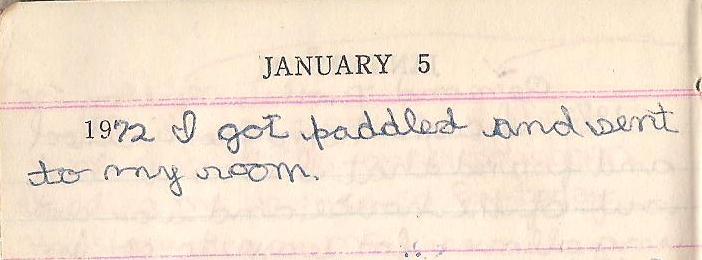 Janette Keys diaary 1-5-1972