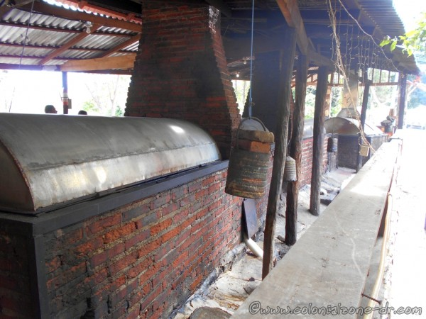 Fogón at the entrance of the restaurant