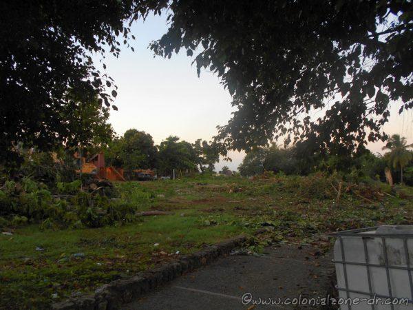 Parque Pensador on Ave. Mirador del Este, Santo Domingo Este. Trees broken and destroyed. Incredible destruction.