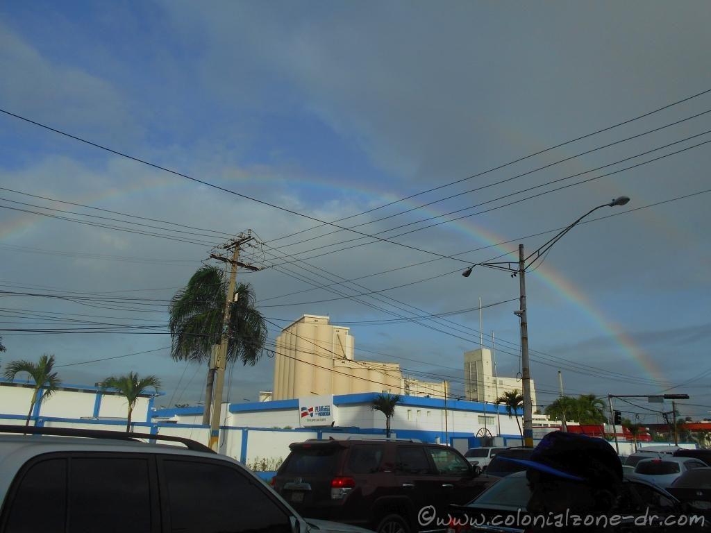 A rainbow over Los Molinos, Villa Duarte.